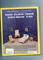 Meuble  Miniature En Bois Neuf A Construire .(Chambre A Coucher 4 Meubles A Décorer ) - Other Collections