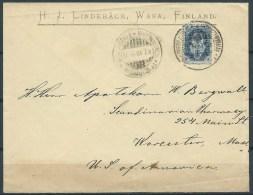 B.15.AUG.334.   MOOI  OUD  POSTSTUK  VERSTUURD  DOOR   FINLAND.  1901. - Briefe U. Dokumente