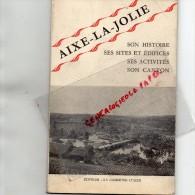 87- AIXE SUR VIENNE - BELLE BROCHURE TOURISTIQUE 1958- USINE LACAUX- LE SILICATE-THARAUD-FERRE PERINET-DUPUY- VASEIX - Tourism