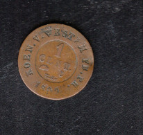 Westphalen Napoleon 1 Centime 1809 - A. 1 Centime