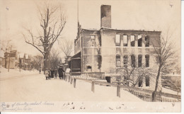 Real Photo RPPC B&W - Possibly Holland Vermont - Ruins ? Of School House Burned January 24 1907 - Animation - 2 Scans - United States