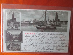 ANVERS TYPE GRUSS BLEU A LA LUNE 1899 - België