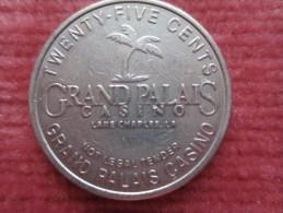 JETON CASINO GRAND PALAIS LAKE CHARLES  LOUISINA - Casino