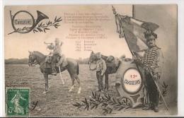 FRANCE - Regiment 12e CHASSEURS - Batailles - 1908 POSTCARD - Regimientos