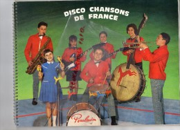CHOCOLAT POULAIN - ALBUM IMAGES 1966- DISCO CHANSONS DE FRANCE-AZNAVOUR-BECAUD-BREL-TRENET-AUFRAY- - Livres, BD, Revues