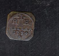 Sachsen-Hildburghausen 1 Heller 1784 - [ 1] …-1871 : German States