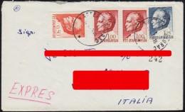 YUGOSLAVIA (CROATIA-ITALY) EXPRES No.242 LETTER COVER ENVELOPE WITH STAMPS J.B.TITO 1970 - Briefe U. Dokumente
