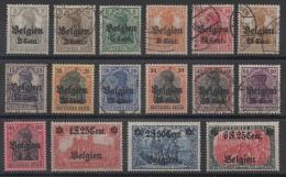 BELGIQUE - Occupation Allemande - YT N° 10 à 25 - Neufs * Et Obl - Cote: 140,00 € - Esercito Tedesco