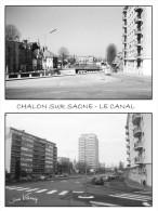 Chalon Sur Saone - Cpm -le Canal - Avant Apres - Numero 114  De La Collection - Chalon Sur Saone