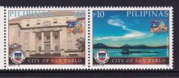 PHILIPPINES  , 2015 , MNH, CITY OF SAN PABLO, MOUNTAINS, LANDSCAPE, 2v - Aardrijkskunde