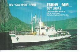 """R/V """" CALYPSO """" / FIRQ - F6HHV-MM- ( BATEAU  ) THE COUSTEAU SOCIETY - Sonstige"""
