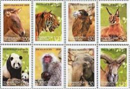 Tajikistan 2009 Fauna Of Asia Horse Elephant Camel Panda Tiger 8v MNH - Tajikistan
