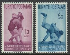 Turkey 1949 European Championships In Freestyle Wrestling. Part Set Mi 1231-1232 - Lucha