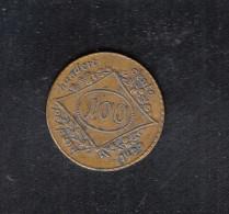 Jeton Tous Cent A Un Coup 23 Mm 3,25 Gramm - Burdeles