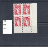 CD4 De 1980 Neuf**  Y&T  N° CD 2102 Daté 9.7.80 - 1980-1989