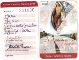 TESSERA AZIONE CATTOLICA ITALIANA 2006 - Non Classés