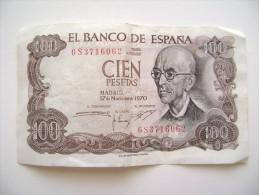 Spagna - Cien Pesetas 1970 - Espagne