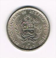 *** PERU  UN  INTI 1987 M - Pérou