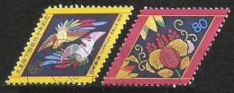 JAPAN 1999 - Mi. 2828-2829 O, Chinese Phoenix Embroidery | Paulownia And Bamboo Embroidery (Engiraku&Manzairaku Costume) - 1989-... Emperor Akihito (Heisei Era)