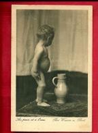 EZF2-05 Bei Wasser Und Brot, Au Pain Et à L'eau, Bébé Nu.  Circulé En 1934 - Babies