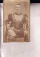 Cuirassier Photo CDV Sans Son Support Carton, Bers 1900 France Ou Belgique - Photos