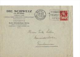 12792 - Lettre Die Schweiz La Suisse Lebens Lausanne Sub-Direktion Bern 12.12.1929 - Suisse