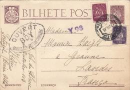 Lettre Viseu Ouvert Par Les Autorités De Contrôle Pour La France - 1910-... République