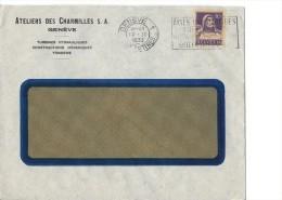 12799 - Lettre Ateliers Des Charmilles Genève 1011.1933 - Suisse