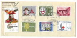 12800 - Lettre Brief Schweizer Mustermesse Basel 20.04.1963 + Vignette - Suisse