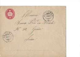 12798 - Entier Postal Allaman 05.03.1881 - Entiers Postaux