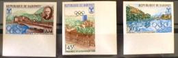 DAHOMEY Jeux Olympiques Grenoble 1968, Yvert N° 261/63 Non Dentelé ** MNH. Imperforate - Hiver 1968: Grenoble