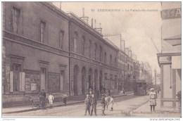 CHERBOURG LE PALAIS DE JUSTICE TRES ANIMÉES CPA BON ÉTAT - Cherbourg