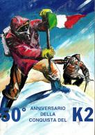 111 50° Anniversario Conquista Del K2 Bandiera Tricolore - Arrampicata