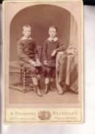 Bruxelles 2 Adolescents Photo CDV Format Cabinet Par DELABARRE Année 1870 - Alte (vor 1900)