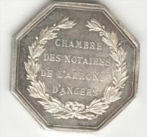 """Jeton De Notaire """"Chambre Des Notaires De L'arrondissement D'Anger""""SUP - Argent / Silver - Professionnels / De Société"""