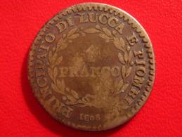 Italy - Principato Di Lucca E Piombino - 1 Franco 1808 2715 - Regional Coins
