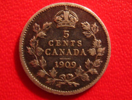 Canada - 5 Cents 1909 - Feuilles Pointues 2789 - Canada