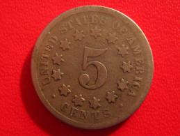 Etats-Unis - 5 Cents 1868 2730 - Émissions Fédérales