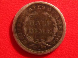 Etats-Unis - Half Dime 1853 2741 - Émissions Fédérales