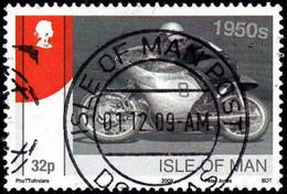 GREAT BRITAIN ISLE Of MAN - Scott #1319 Honda Racing Motorcycles 1950s (*) / Used Stamp - Motorbikes