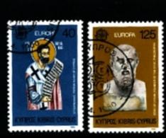 CYPRUS - 1980  EUROPA SET FINE USED - Chypre (République)