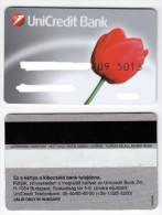Hungary - Credit Card - Unicredit Bank - RR Tulip - Geldkarten (Ablauf Min. 10 Jahre)