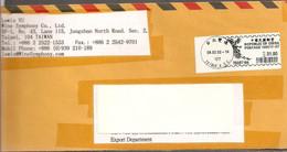 Lettre Oblitérée Avec Vignette  De  31.00  Daté  Du  08 - 02 - 2002  De Taiwan - Distribuidores