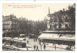 ///  CPA - France  31  - TOULOUSE - Carrefour Lafayette Jean Jaurès - Café Albrighi Et Des Américains - Tram    // - Toulouse