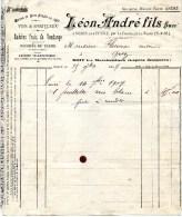 Dép.77 Léon André Noisy-sur-Ecole  Vins Raisins Frais De Vendanges 1907 - France