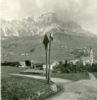 Italie Dolomites Alpes Montagne Cortina D Ampezzo Ancienne Photo Stereoscope NPG 1900 - Stereoscopic