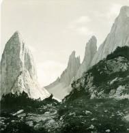 Italie Dolomites Montagne Fischleintal Zwölferkofel Hochleist Ancienne Photo Stereoscope NPG 1900 - Stereoscopic