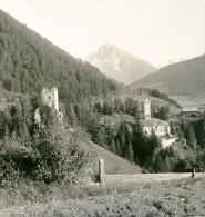 Italie  Südtirol Montagne Chateau De Welsberg Thurn Val Pusteria Ancienne Photo Stereoscope NPG 1900 - Stereoscopic