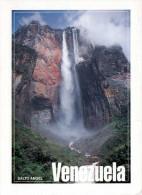 SALTO ANGEL (Venezuela), Wasserfall Des Churun-River, CANAIMA, Karte Gel.1994 Mit 2 Marken Und Sonderstempel - Venezuela