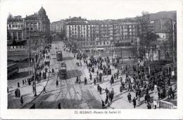 BILBAO - Puente De Isabell II, Karte Gel.1942, 2 Fach Frankiert, Zensur, Mehrere Stempel - Spanien